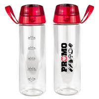 Branded Stay Hydrated Water Bottles with Red Lid from Total Merchandise