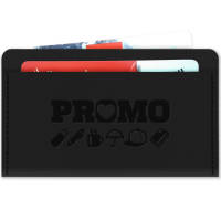 RFID Card Wallet black with black stitching