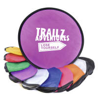 Promotional Foldable Nylon Flying Discs are available in 10 vibrant colours