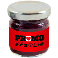 Branded Mini Jars of Strawberry Jam Printed Giveaways