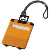 Taggy Luggage Tags in Neon Orange