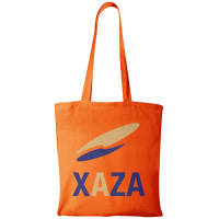 Orange Promo Branded Shopping Bags Made From Natural Cotton