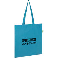 Promotional Seabrook Recycled 5oz Cotton Tote Bags in Bright Blue from Total Merchandise