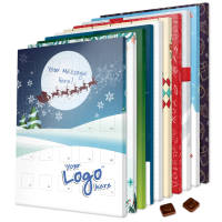 UK Branded Advent Calendars with 10 standard Designs Printed with a Logo by Total Merchandise