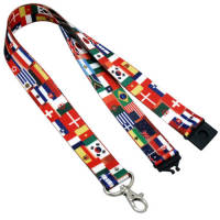 Custom design printed 25mm Full Colour Lanyards with your logo