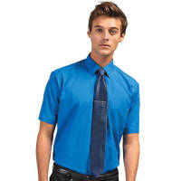 Promotional Mens Short Sleeved Poplin Shirts for Uniforms
