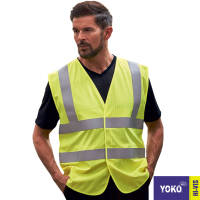 Corporate branded Yoko Hi Vis Waistcoats are the safety essentials for the workplace