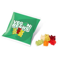 Promotional10g Bags of Vegan Gummy Bears Printed with a Logo by Total Merchandise