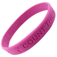 Event Branded Debossed Silicone Wristbands for companies and teams