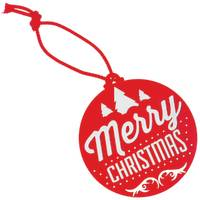 Red UK Printed Christmas Decorations for Marketing & Business