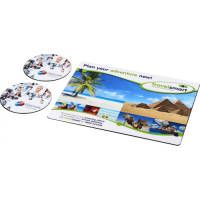 Branded Brite Mat Mouse Mat and Coasters Set in White and Printed with your Design