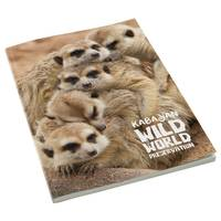 Promotional A4 Perfect Bound Notepad in white printed with full colour on cover by Total Merchandise