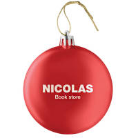 Promotional Elliptical Christmas Baubles Printed with your Company Logo