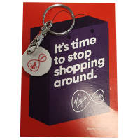 PromotionalRecycled Plastic Trolley Coin with Backing Card