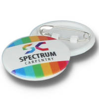 Promotional 25mm Circle Plastic Button Badges for Events