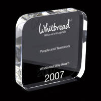 Promotional 120mm Crystal Square Paperweight Awards