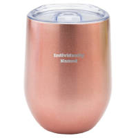 Individually Named Tulip Reusable Coffee Cups in Metallic Rose Gold