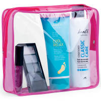 Clear Promotional Travel Bag With Pink Zip