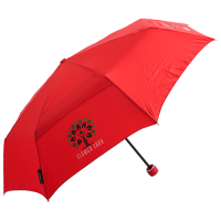 Promotional Ecovent Mini rPet Telescopic Umbrella in Red with branding by Total Merchandise