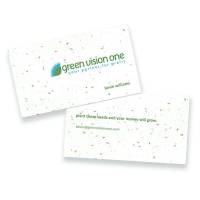 Eco-friendly business cards embedded with plantable seeds