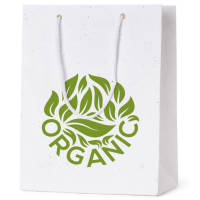 100% biodegradable branded bag