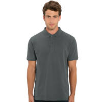 100% organic cotton promotional polo shirt in anthracite