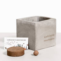 Bee Mix Clay Plant Pots In Grey