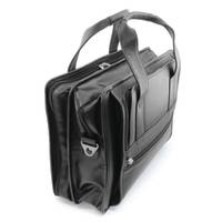 Promotional Sandringham Leather Flight Bags in Black from Total Merchandise