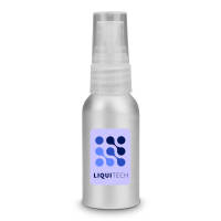 Branded 30ml Aluminium Hand Sanitiser in silver with your company logo by Total Merchandise