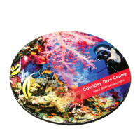 Promotional Round Antimicrobial Hardtop Coasters by Total Merchandise
