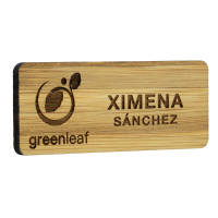Promotional Bamboo Name Badges from Total Merchandise