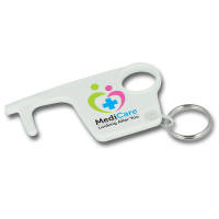 Promotional printed Hygiene Hook Keyring for health campaigns from Total Merchandise