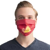 Reusable Branded Face Mask with a company logo printed in full colour