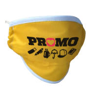 Custom branded Washable Face Masks with KN95 Filter in yellow from Total Merchandise