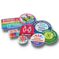 Full Colour Printed Badges For Social Distancing from Total Merchandise