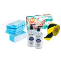 Set of office hygiene & social distancing products from Total Merchandise