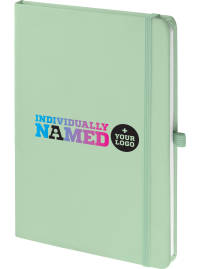 Promotional Notebooks Branded With Any Name In Pastel Green From Total Merchandise