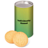 Branded Mini Shortbread Biscuit Tins Printed with Individual Names from Total Merchandise