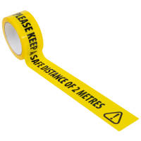 Please Keep A Safe Distance of 2 Metres Social Distancing Floor Marking Tape from Total Merchandise