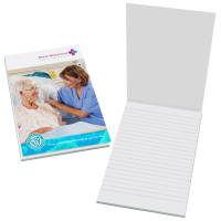 Corporated Branded A5 Antibacterial Notepads from Total Merchandise