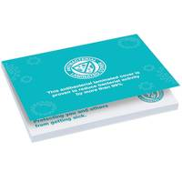 Custom Printed Antibacterial Sticky Note Pads from Total Merchandise