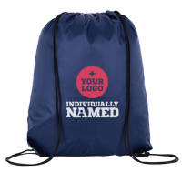Branded Drawstring Bags Printed with Individual Names from Total Merchandise
