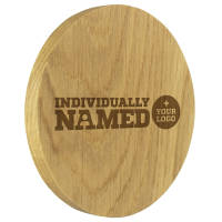 Customised Solid Oak Coasters Engraved with Individual Names from Total Merchandise