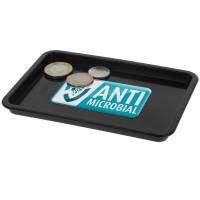 Custom Printed Antimicrobial KeepSafe Change Trays in Black from Total Merchandise