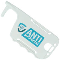 Custom printed Antimicrobial ID Card Holder Hygiene Key in white from Total Merchandise