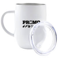 Custom Branded Tulip Insulated Coffee Mug with Lid in White from Total Merchandise