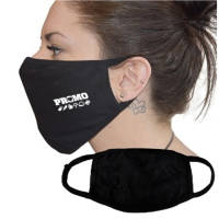 2 Ply Cotton Face Masks custom printed with a 1 colour logo from Total Merchandise