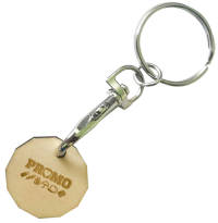 Promotional Wooden Trolley Coins Engraved with Your Logo from Total Merchandise