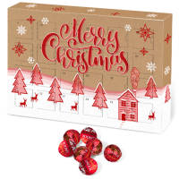 Custom Printed A5 Kraft Advent Calendars with Lindor Chocolates from Total Merchandise