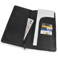 Custom Branded Global Travel Wallets in Black from Total Merchandise